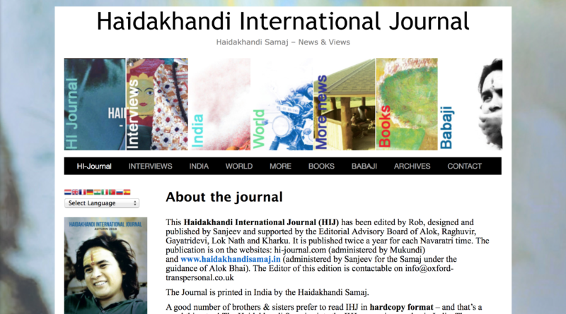 Haidakhandi International Journal – Autumn 2018